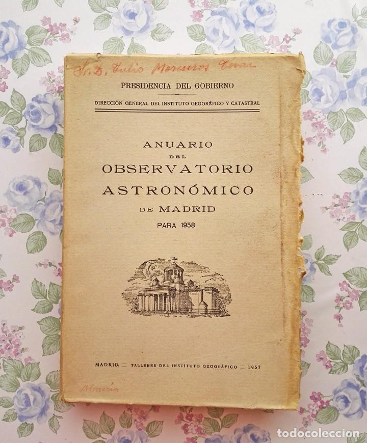 1958 ANUARIO ASTRONÓMICO NACIONAL B - MADRID ASTRONOMÍA (Libros de Segunda Mano - Ciencias, Manuales y Oficios - Astronomía)
