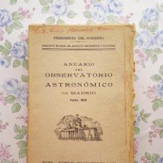 Libros de segunda mano: 1958 ANUARIO ASTRONÓMICO NACIONAL B - MADRID ASTRONOMÍA. Lote 225567327