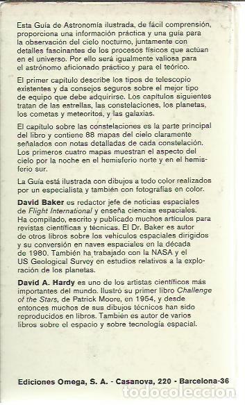 Libros de segunda mano: David Baker y David A. Hardy-Guía de Astronomía.Omega.1980. - Foto 2 - 219873820
