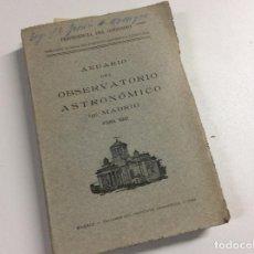 Libros de segunda mano: OBSERVATORIO ASTRONÓMICO DE MADRID 1941.. Lote 221509157