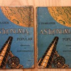 Livros em segunda mão: ASTRONOMÍA POPULAR MODERNIZADA. TOMOS 1 Y 2 - JOSÉ COMAS SOLÁ. Lote 225012755