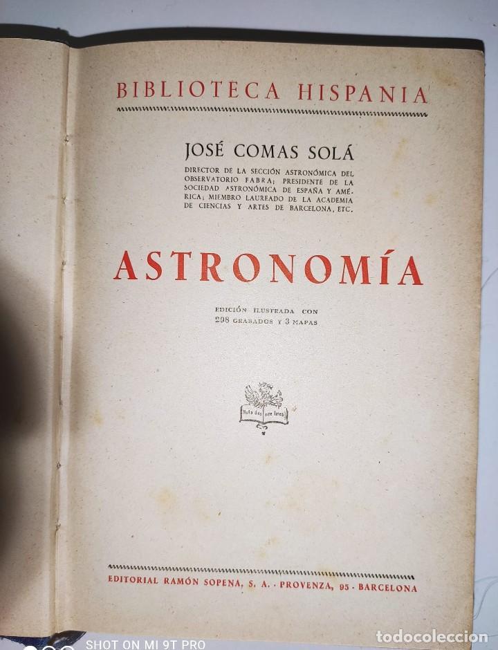Libros de segunda mano: ASTRONOMIA (1943) - Foto 2 - 236811750