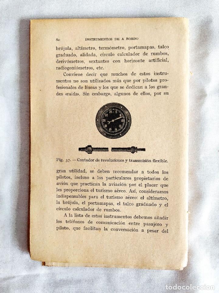 Libros de segunda mano: 1937 - ARMANGUÉ: ELEMENTOS DE AVIACIÓN - Foto 5 - 239967125