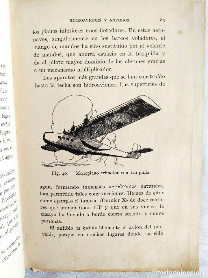 Libros de segunda mano: 1937 - ARMANGUÉ: ELEMENTOS DE AVIACIÓN - Foto 7 - 239967125