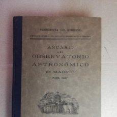 Libros de segunda mano: ANUARIO DEL OBSERVATORIO ASTRONÓMICO DE MADRID PARA 1947. Lote 240356760