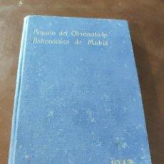 Libros de segunda mano: ANUARIO DEL OBSERVATORIO ASTRONÓMICO DE MADRID PARA 1943.. Lote 244781550