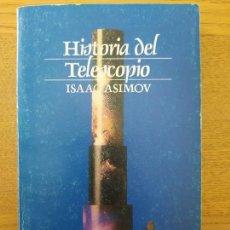 Libros de segunda mano: HISTORIA DEL TELESCOPIO, ASIMOV, ED. ALIANZA, 1975, TAPA BLANDA.. Lote 261694650