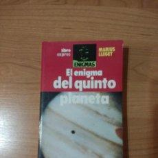 Libros de segunda mano: EL ENIGMA DEL QUINTO PLANETA. MARIUS LLEGET. Lote 262986850