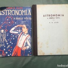 Libros de segunda mano: ASTRONOMIA A SIMPLE VISTA AUTOR. RAMON M.ALLER EDITORIAL LIBRERIA PORTO S,L.SANTIAGO DE COMPOSTELA. Lote 270561998