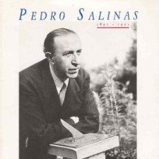 Libros de segunda mano: PEDRO SALINAS ( CATÁLOGO DE EXPOSICIÓN, 1992). Lote 24906368