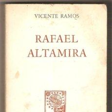 Libros de segunda mano: RAFAEL ALTAMIRA .-VICENTE RAMOS. Lote 9425228