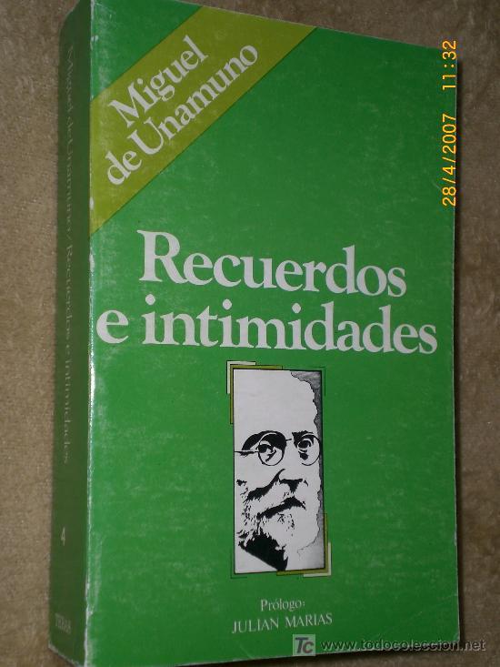Libros de segunda mano: RECUERDOS E INTIMIDADES. POR MIGUEL DE UNAMUNO (Autobiografía). - Foto 2 - 20650676
