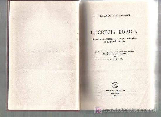 Libros de segunda mano: Biografia de LUCRECIA BORGIA - Foto 2 - 19458591