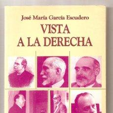 Libros de segunda mano: VISTA A LA DERECHA .- JOSÉ MARÍA GARCÍA ESCUDERO. Lote 27222867