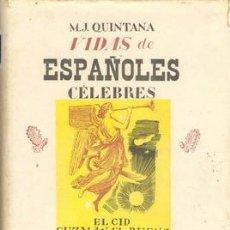 Libros de segunda mano: VIDAS DE ESPAÑOLES CELEBRES. Lote 25806190