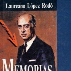 Libros de segunda mano: LAUREANO LÓPEZ RODÓ. MEMORIAS (PLAZA Y JANÉS, 1ª EDICIÓN). Lote 10078225