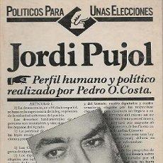 Libros de segunda mano: JORDI PUJOL / PEDRO ORIOL COSTA. Lote 25638086