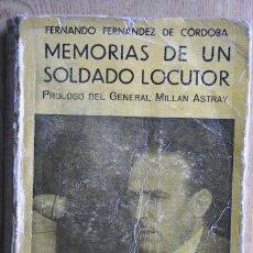 Libros de segunda mano: LA GUERRA QUE YO HE VIVIDO Y LA GUERRA QUE YO HE CANTADO. MEMORIAS DE UN SOLDADO-LOCUTOR.. Lote 24549676