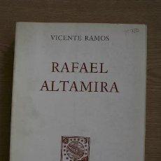 Libros de segunda mano: RAFAEL ALTAMIRA. RAMOS (VICENTE). Lote 18611349