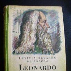 Libros de segunda mano: LEONARDO DE VINCI, POR LETICIA ALVAREZ DE TOLEDO - EDITORIAL ATLÁNTIDA - ARGENTINA - 1946. Lote 21875951