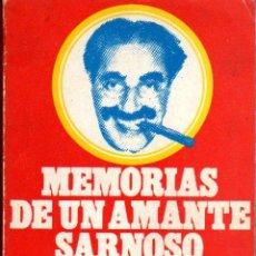 Libros de segunda mano: MARX GROUCHO: MEMORIAS DE UN AMANTE SARNOSO. BARCELONA. 1974.. Lote 26338211