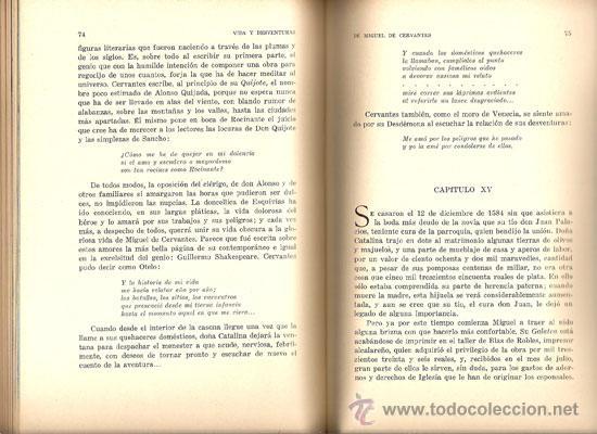 Libros de segunda mano: VIDA Y DESVENTURAS DE MIGUEL DE CERVANTES – AÑO 1933 - Foto 5 - 27016807