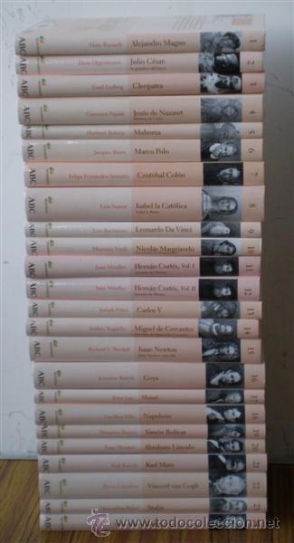 24 LIBROS .. PROTAGONISTA DE LA HISTORIA .. BIBLIOTECA ABC (Libros de Segunda Mano - Biografías)