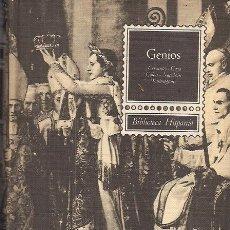 Libros de segunda mano - GENIOS / CERVANTES GOYA COLÓN NAPOLEÓN GEORGE WASHINGTON . ED. RAMÓN SOPENA, 1964. ILUSTRACIONES. - 28095383