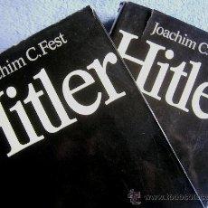 Libros de segunda mano: HITLER. JOACHIM C. FEST. LA BIOGRAFIA DEFINITIVA. DOS TOMOS, CON FOTOS DE LA EPOCA, .. Lote 28627665