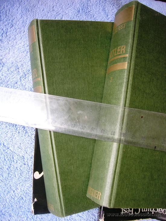 Libros de segunda mano: HITLER. JOACHIM C. FEST. LA BIOGRAFIA DEFINITIVA. DOS TOMOS, CON FOTOS DE LA EPOCA, . - Foto 4 - 28627665