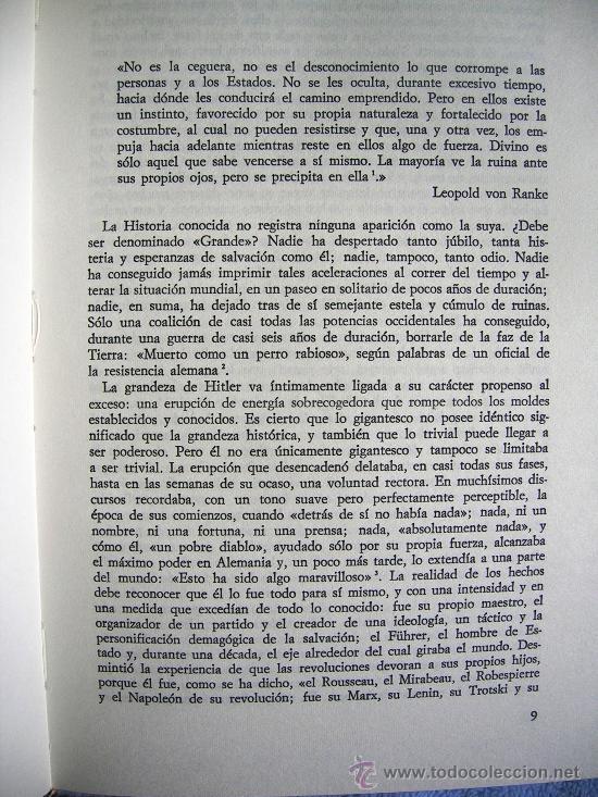 Libros de segunda mano: HITLER. JOACHIM C. FEST. LA BIOGRAFIA DEFINITIVA. DOS TOMOS, CON FOTOS DE LA EPOCA, . - Foto 5 - 28627665