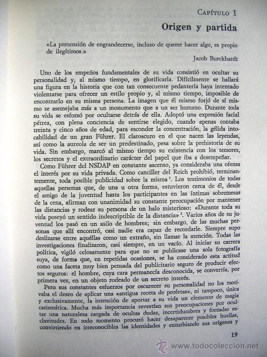Libros de segunda mano: HITLER. JOACHIM C. FEST. LA BIOGRAFIA DEFINITIVA. DOS TOMOS, CON FOTOS DE LA EPOCA, . - Foto 6 - 28627665
