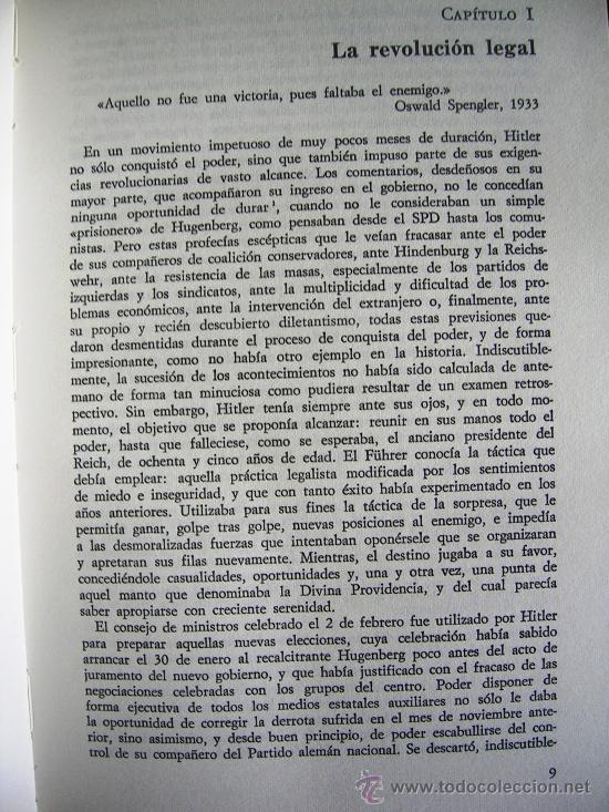 Libros de segunda mano: HITLER. JOACHIM C. FEST. LA BIOGRAFIA DEFINITIVA. DOS TOMOS, CON FOTOS DE LA EPOCA, . - Foto 18 - 28627665