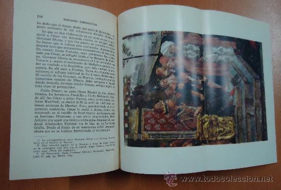 Libros de segunda mano: LUCRECIA BORGIA. FERNANDO GREGOROVIUS. EDITORIAL LORENZANA 1962. - Foto 4 - 28695521