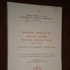 Libros de segunda mano: SEMBLANZA INTELECTUAL DEL PENSADOR ASTURIANO ESTANISLAO SÁNCHEZ CALVO POR R. GARCÍA DE CASTRO, IDEA. Lote 29284492