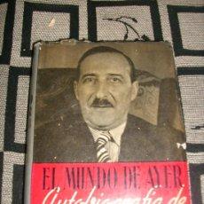 Libros de segunda mano: EL MUNDO DE AYER - AUTOBIOGRAFIA DE STEFAN ZWEIG - CLARIDAD - ARGENTINA - 1953. Lote 29622008