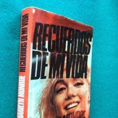 Libros de segunda mano: RECUERDOS DE MI VIDA-AUTOBIOGRAFIA-MY STORY-MARILYN MONROE-1975-1ª EDICION ESPAÑOL EJEMPLAR Nº 02073. Lote 29934221
