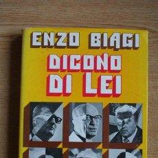 Libros de segunda mano: DICONO DI LEI. BIAGI (ENZO). Lote 29999774