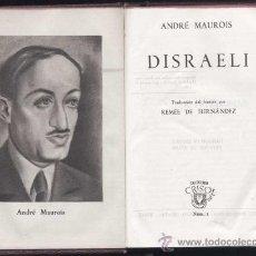 Libros de segunda mano: COLECCION CRISOL Nº 1- DISRAELI- EDICIÓN DE 1944-. Lote 30641910