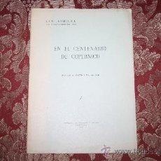 Libros de segunda mano: 0921- 'EN EL CENTENARIO DE COPÉRNICO' J. ORIOL CARDUS, FIRMADO IMP. DE ALGUERÓ Y BAIGES TORTOSA 1944. Lote 31663278
