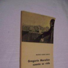Libros de segunda mano: GREGORIO MARAÑÓN CUENTA SU VIDA - MARIO GÓMEZ-SANTOS - AGUILAR 1961. Lote 32320891