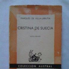 Second hand books - Cristina de Suecia, del Marqués de Villa-Urrutia. Espasa Calpe (Austral 57). 1962 - 32796586
