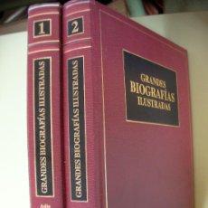 Libros de segunda mano: GRANDES BIOGRAFIAS ILUSTRADAS (2 VOL.). Lote 33390301