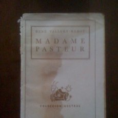 Libros de segunda mano: MADAME PASTEUR, DE RENÉ VALLERY-RADOT. ESPASA CALPE (AUSTRAL 470), 1944. Lote 33665035