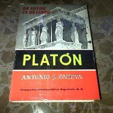 Libros de segunda mano: PLATÓN. ANTONIO J. ONIEVA. COMPAÑIA BIBLIOGRAFICA ESPAÑOLA SA. 1964. Lote 37208709