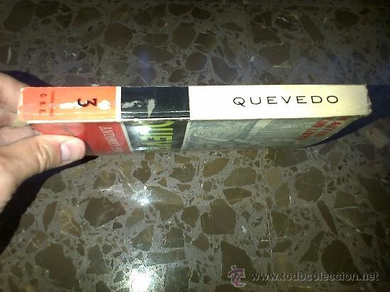 Libros de segunda mano: QUEVEDO. ANTONIO ESPINA. COMPAÑIA BIBLIOGRAFICA ESPAÑOLA SA. 1962 - Foto 2 - 37208755