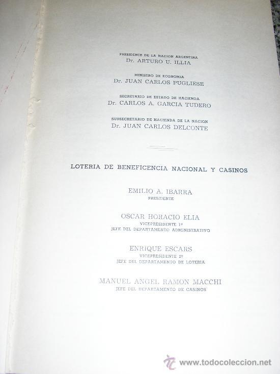 Libros de segunda mano: DOMINGO MATHEU, por A. Romero Oneto y O. H. Elia - Lotería de Beneficencia y Casinos - 1965 - Foto 2 - 37522576