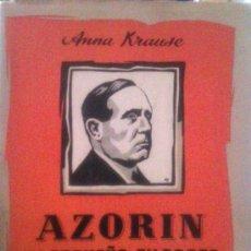 Libros de segunda mano: ANNA KRAUSE. AZORÍN EL PEQUEÑO FILOSOFO. MADRID, 1955. Lote 38436267