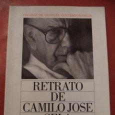 Libros de segunda mano: RETRATO DE CAMILO JOSÉ CELA. ALONSO ZAMORA VICENTE - JUAN CUETO. CIRCULO DE LECTORES. 1990.. Lote 39966914