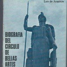 Libros de segunda mano: LUIS DE ARMIÑÁN, BIOGRAFÍA DEL CÍRCULO DE BELLAS ARTES 1880-1973 MADRID 1ªEDICIÓN. Lote 40629938